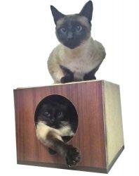 Arranhador para Gatos Single Box em MDF Branco 15mm e Sisal